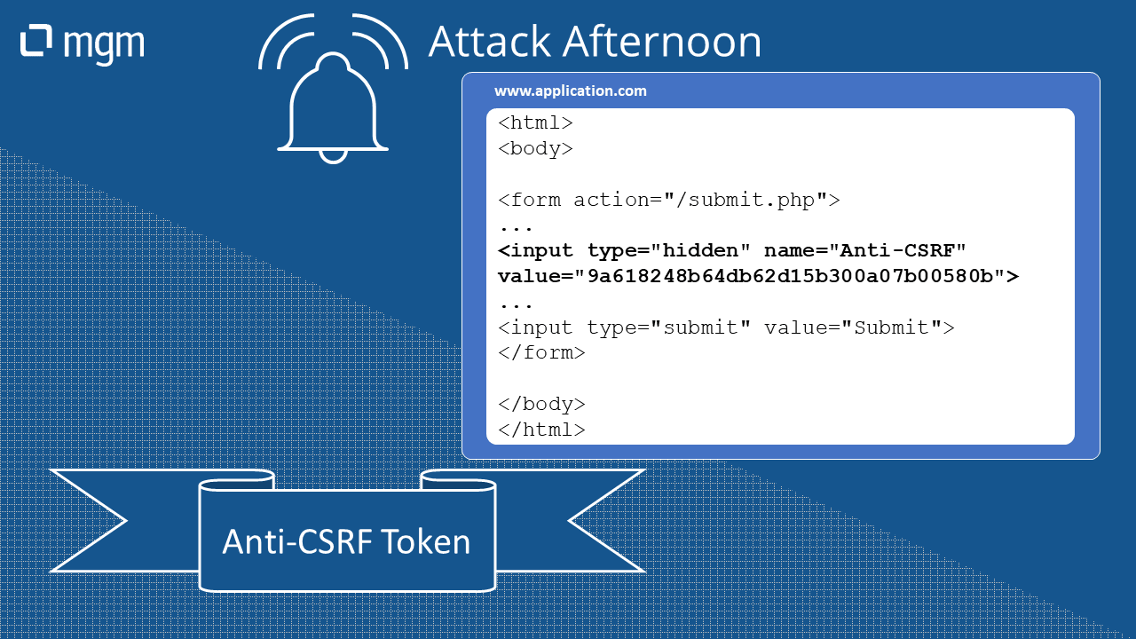 Attack Afternoon – CSRF Countermeasures #1