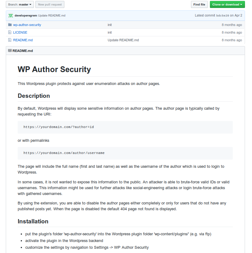 WordPress Author Security
