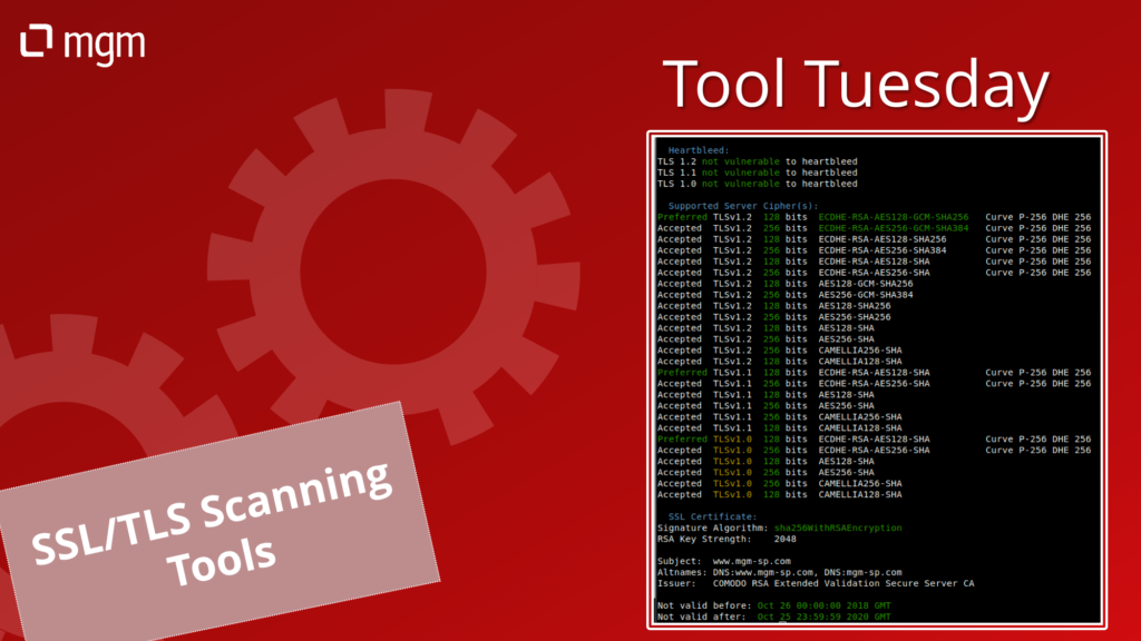 Tool Tuesday - TLS/SSL Scanning Tools